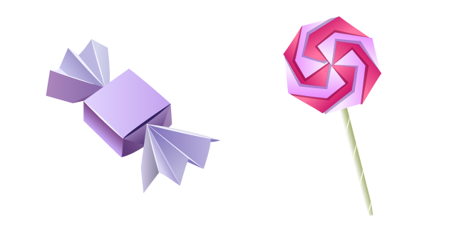 Origami Candy and Lollipop