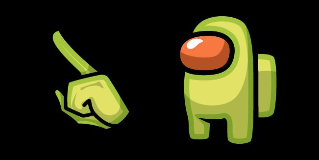 Among Us Avocado Character