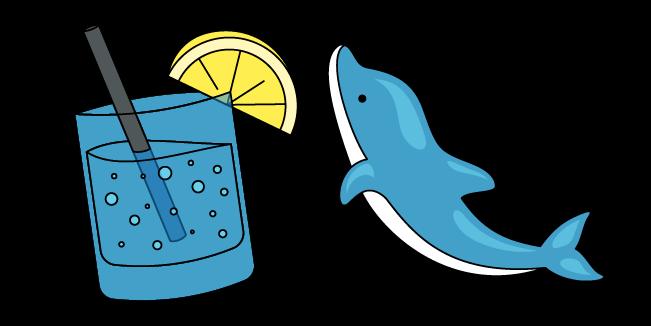 VSCO Girl Dolphin and Lemon Soda