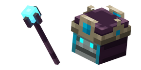 Minecraft Necromancer and Staff Cursor