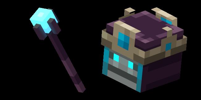 Minecraft Necromancer and Staff