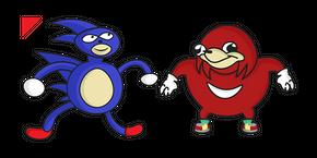 Sanic & Ugandan Knuckles Curseur