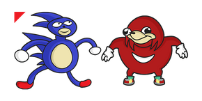 Sanic & Ugandan Knuckles