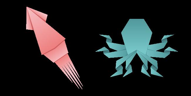 Origami Squid and Octopus