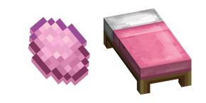 Minecraft Pink Dye and Bed Curseur