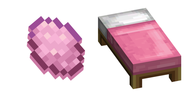 Minecraft Pink Dye and Bed