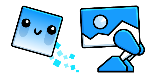 Geometry Dash Cube 102 and Robot 1