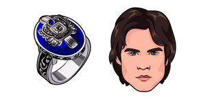 The Vampire Diaries Damon Salvatore and Ring Cursor