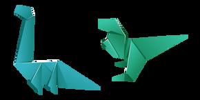 Origami T-Rex and Brachiosaurus Cursor