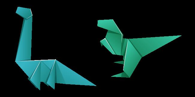 Origami T-Rex and Brachiosaurus