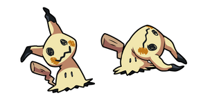 Pokemon Mimikyu Disguised and Busted Form Cursor
