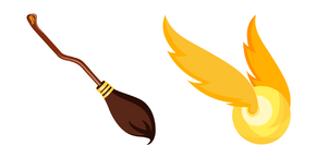 Harry Potter Nimbus 2000 and Golden Snitch Cursor