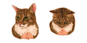 Cat with Hands Meme Cursor