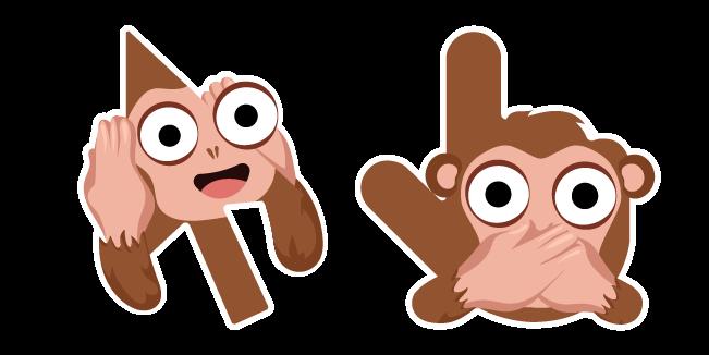 Cursoji - Hear and Speak-No-Evil Monkey