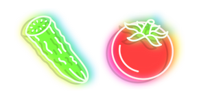 Neon Cucumber and Tomato Curseur