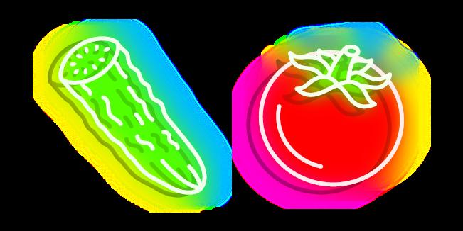 Neon Cucumber and Tomato