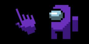 Among Us Pixel Purple Character