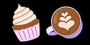 VSCO Girl Cappuccino and Cupcake Cursor