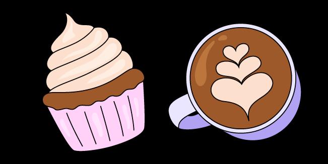 VSCO Girl Cappuccino and Cupcake