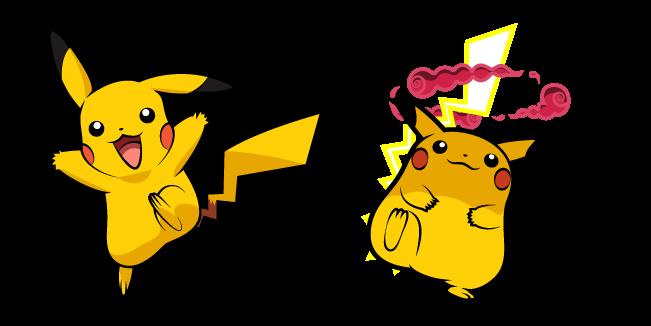 Pokemon Pikachu and Gigantamax Pikachu
