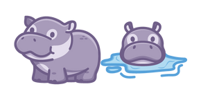 Cute Hippo Cursor
