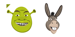 Shrek and Donkey Cursor