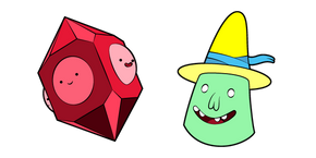 Adventure Time Magic Man and Grob Gob Glob Grod Cursor