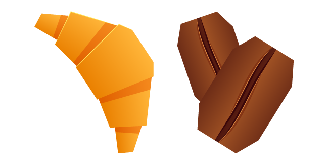 Origami Croissant and Coffee Beans