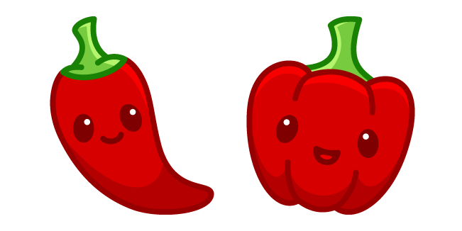 Cute Chili and Bell Pepper