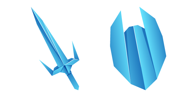 Origami Sword and Shield