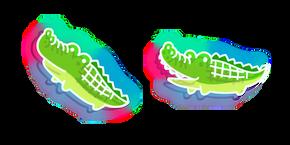 Neon Crocodile Cursor
