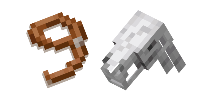 Minecraft Skeleton Horse and Lead