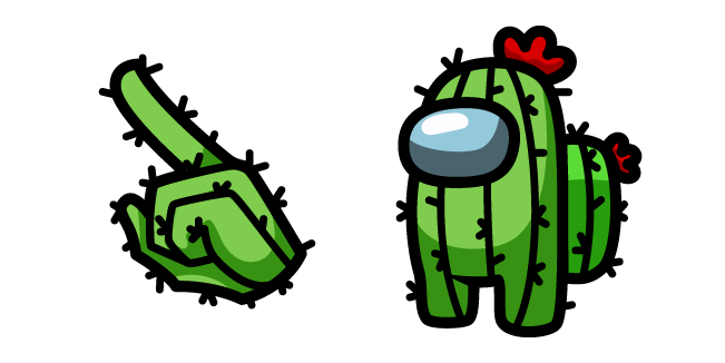 Among Us Cactus Character
