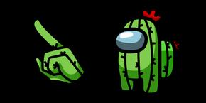 Among Us Cactus Character Cursor