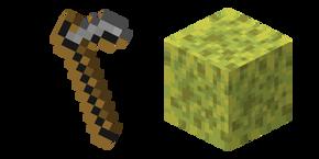 Minecraft Wet Sponge and Stone Hoe Cursor