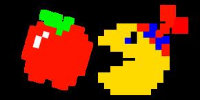Pixel Jr. Pac-Man and Apple Curseur