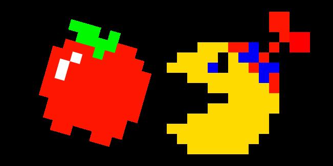 Pixel Jr. Pac-Man and Apple