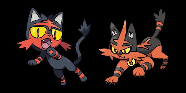 Pokemon Litten and Torracat