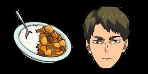 Haikyuu!! Wakatoshi Ushijima and Hayashi Rice Curseur