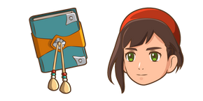 Monster Hunter Stories Lilia and Notebook Cursor