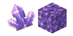 Minecraft Amethyst Block and Cluster Curseur