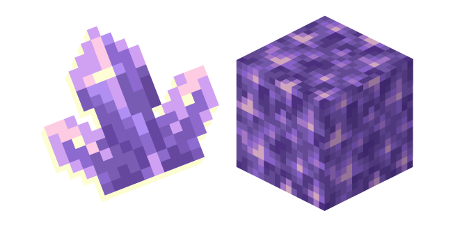 Minecraft Amethyst Block and Cluster
