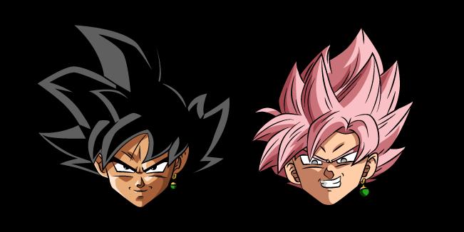 Dragon Ball Goku Black and Super Saiyan Rosé