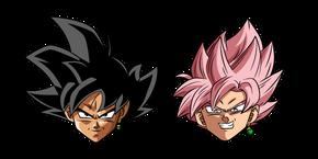 Dragon Ball Goku Black and Super Saiyan Rosé Cursor