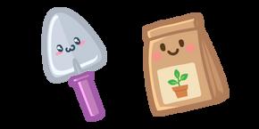 Cute Garden Shovel and Seeds Cursor