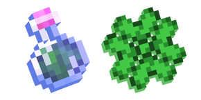 Minecraft Luck Effect and Potion of Luck Cursor