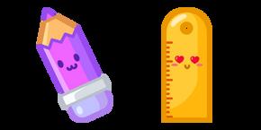 Cute Pencil and Ruler Cursor