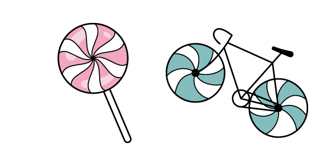 VSCO Girl Lollipop and Bicycle
