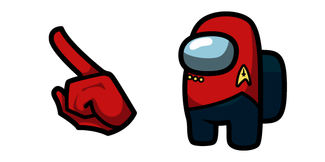Among Us Star Trek Red Uniform Character