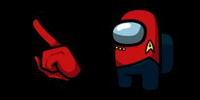 Курсор Among Us Star Trek Red Uniform Character
